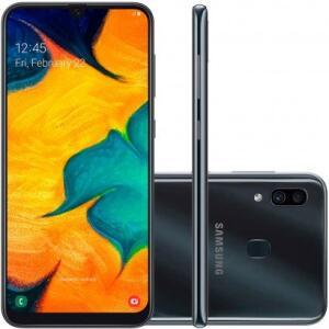 Smartphone Samsung Galaxy A30 64GB A305 Desbloqueado Preto - R$1234
