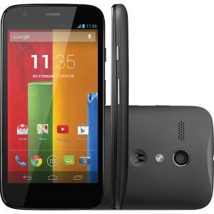 "Smartphone Motorola Moto G Single Chip Desbloqueado Android 4.3 Tela 4.5"" 8GB 3G Wi Fi Câmera 5MP GPS - Preto"