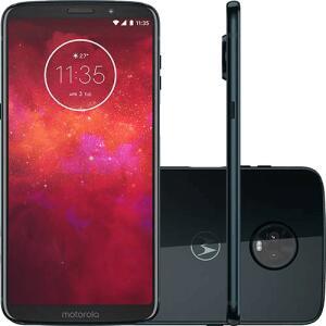 "Smartphone Motorola Moto Z3 Play Dual Chip Android Oreo - 8.0 Tela 6"" Octa-Core 1.8 GHz 64GB 4G Câmera 12 + 5MP - Índigo (AME R$1146,82)"