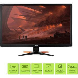 """Monitor Gamer LED 24"""" 1ms 144hz Widescreen GN246HL - Acer -  R$1.234 [ou AME+cupom por R$1055]"""