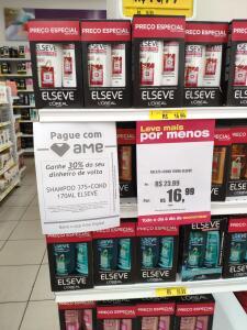 Shampoo + Cond. Elseve [ R$11,89 AME 30%] Lojas Americanas - Lojas físicas