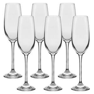 Conjunto de Taças para Espumante Oxford Alumina Crystal Play Classic 205 ml – 6 Peças | R$85