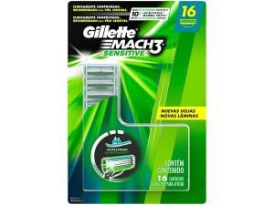 Carga Gillette Mach3 Sensitive-16 Cargas - R$70