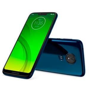 "Smartphone Motorola Moto G7 Power Azul Navy, Dual Chip, Tela 6,2"", 4G+Wi-Fi, Android Pie, 12MP, 32GB | R$834"