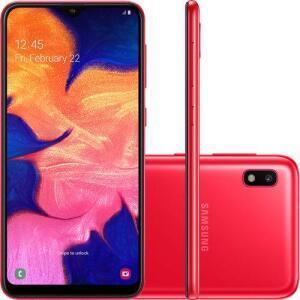 "Smartphone Samsung Galaxy A10 32GB Preto Tela 6.2"" Câmera 13MP Selfie 5MP Dual Chip Android 9.0 por R$ 639"