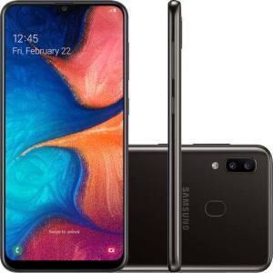 Samsung Galaxy A20 Dual Chip Android 9 Tela 6.4 32GB Dual Câmera 13MP+5MP Octa-Core 1.6GHz 4G | R$831