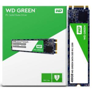 SSD WD GREEN 480GB, M.2 2280, LEITURA 545MBS GRAVAÇÃO 465MBS, WDS480G2G0B | R$325