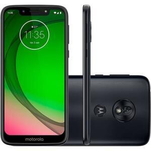"Smartphone Motorola Moto G7 Play 32GB Dual Chip Android Pie - 9.0 Tela 5.7"" 1.8 GHz Octa-Core 4G Câmera 13MP - Indigo - R$669"