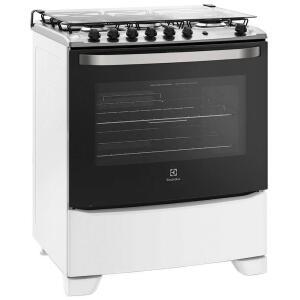 Fogão de Piso Electrolux 5 Bocas 76SQB Full Glass Branco Bivolt - R$1043