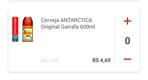 [Clube Extra] Cerveja Antarctica Original 600ml - R$4,69 (App, loja física e site)