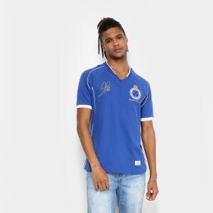 Camiseta Cruzeiro Retrô Mania 2003 Tríplice Coroa Masculina - P ou GG | R$55