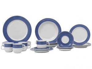 Aparelho de Jantar 20 Peças Schmidt Redondo - Porcelana Aquarela por R$ 180