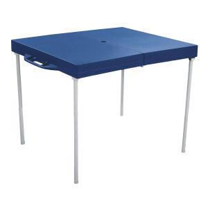 Mesa Dobrável Mor Prática em Aço Azul - R$90