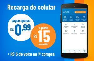 [Primeira Transação] Pague R$0,59 e Ganhe R$15 em Créditos no RecargaPay
