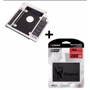 [AME] SSD KINGSTON A400 240gb + adaptador Caddy com Frete grátis (R$ 197 cupom+AME)