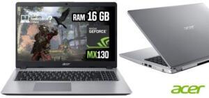 "Notebook Acer A515-52G-57NL 8ª Intel Core I5 16GB (Geforce MX130 com 2GB) 1TB LED 15,6"" W10 Prata"