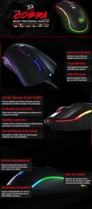 Mouse Gamer Redragon King Cobra M711-FPS 24000Dpi RGB  | Pichau R$150