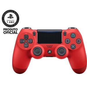 Controle sem Fio PS4 Dualshock Vermelho - Sony 1x cartão + (AME R$ 22,00)