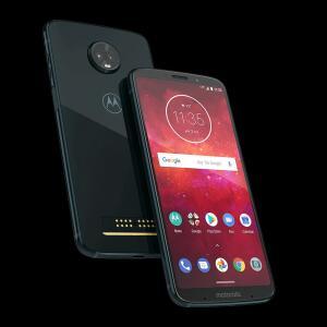 "Smartphone Motorola Moto Z3 Play 64GB Índigo 4G-4GB RAM Tela 6"" Câm. Dupla + Câm. Selfie 8MP"