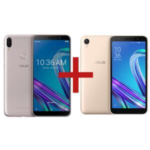 Zenfone Max Pro (M1) 3GB/32GB Prata + ZenFone Live (L1) Quadcore Dourado| R$ 1.259