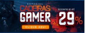 Cadeiras Gamer em promoção na Kabum