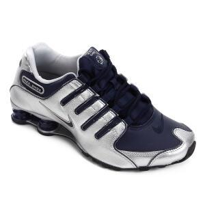 Tênis Nike Shox Nz Masculino - Marinho e Prata