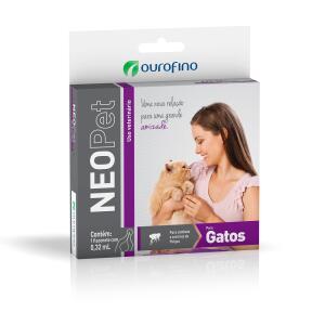 (Petz) (Leve 2 pague 1) Antipulgas e Carrapatos Neopet Ourofino Gatos de 1 a 8Kg