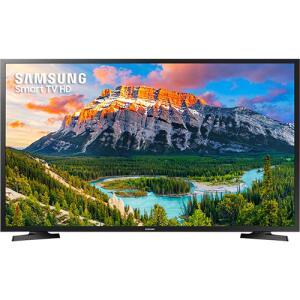"""Smart TV LED 32"""" Samsung 32J4290 HD com Conversor Digital 2 HDMI 1 USB Wi-Fi 60Hz - Preta por R$ 831"""