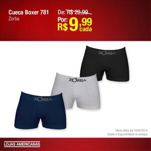 [Lojas Americanas/Loja Físicas] Cueca Boxer 781 Zorba - R$10