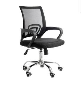 [APP + Cartão Americanas]   Cadeira giratória com base cromada - preta - mb-4005 R$110