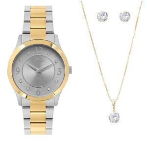 [AME R$ 94,99] - Kit Relógio Condor Feminino Co2036kve/k5c + FRETE GRATIS