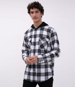 Camisa xadrez com capuz - Renner R$60