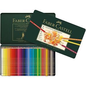 Lápis de Cor Faber Castell Polychromos com Estojo Metálico - 36 Cores | R$180
