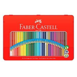 Lápis de Cor EcoLápis Colour Grip 36 Cores, Faber-Castell | R$55