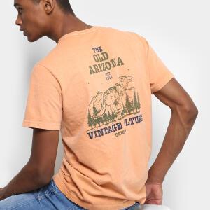 Camiseta Drezzup Estampada Masculina - Nude R$15
