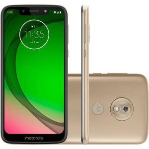 """[R$559,30 AME+1X CARTÃO] Smartphone Motorola Moto G7 Play 32GB Dual Chip Android Pie - 9.0 Tela 5.7"""" 1.8 GHz Octa-Core 4G Câmera 13MP - Ouro"""
