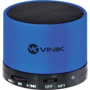 (AME R$18) Caixa De Som Bluetooth Fm/microsd/mic 3w Rms Music Box Azul - Vinik R$40