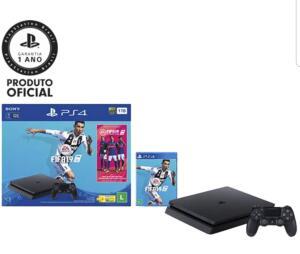 [MKT PLACE/1X CARTÃO] Console PS4 1 TB + FIFA 19