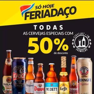50% OFF em cervejas Especiais no Clube Extra