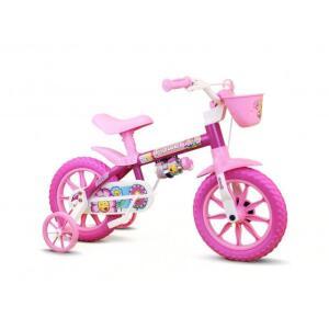 [50% AME] Bicicleta Infantil Nathor Aro 12 - Flower - R$170