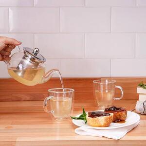 Conjunto de Chá Double Xícara 2 peças + Bule 750 ml 1 Peça - La Cuisine | R$90
