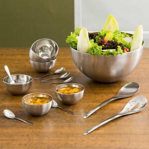 Cj de Saladeira 3 peças + Cj de Sobremesa 12 pçs La Cuisine - R$89