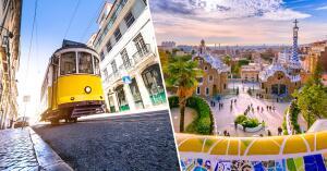 Lisboa e Barcelona, na mesma viagem, saindo de Salvador. Todos os trechos, com taxas incluídas, a partir de R$1.890