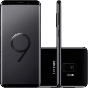 "Smartphone Samsung Galaxy S9 Dual Chip Android 8.0 Tela 5.8"" Octa-Core 2.8GHz 128GB 4G Câmera 12MP - Preto - R$1999"