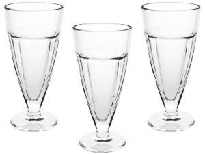 Jogo de Taças para Milk Shake Vidro 3 Peças - Casambiente SOVI002 - R$14