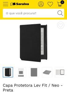 Capa Protetora Lev Fit/Neo - Preta R$ 40,00