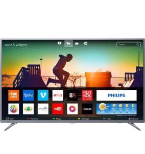 "Smart TV LED 55"" Philips 55PUG6513/78 Ultra HD 4k com Conversor Digital 3 HDMI 2 USB Wi-Fi 60hz - Prata | R$2099"