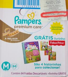 (LOJA FÍSICA | VoVo Zuzu SP) Fralda Pampers Premium Care - Extra Sec Pods - M | R$55
