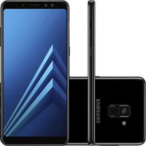 "Smartphone Samsung Galaxy A8 Plus Dual Chip Android 7.1 Tela 5.6"" Octa-Core 2.2GHz 64GB 4G Câmera 16MP - Preto - R$1322"