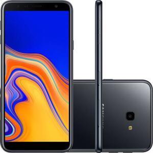"Samsung Galaxy J4+ 32GB Dual Chip Android Tela Infinita 6"" Quad-Core 1.4GHz 4G Câmera 13MP - Preto | R$569"